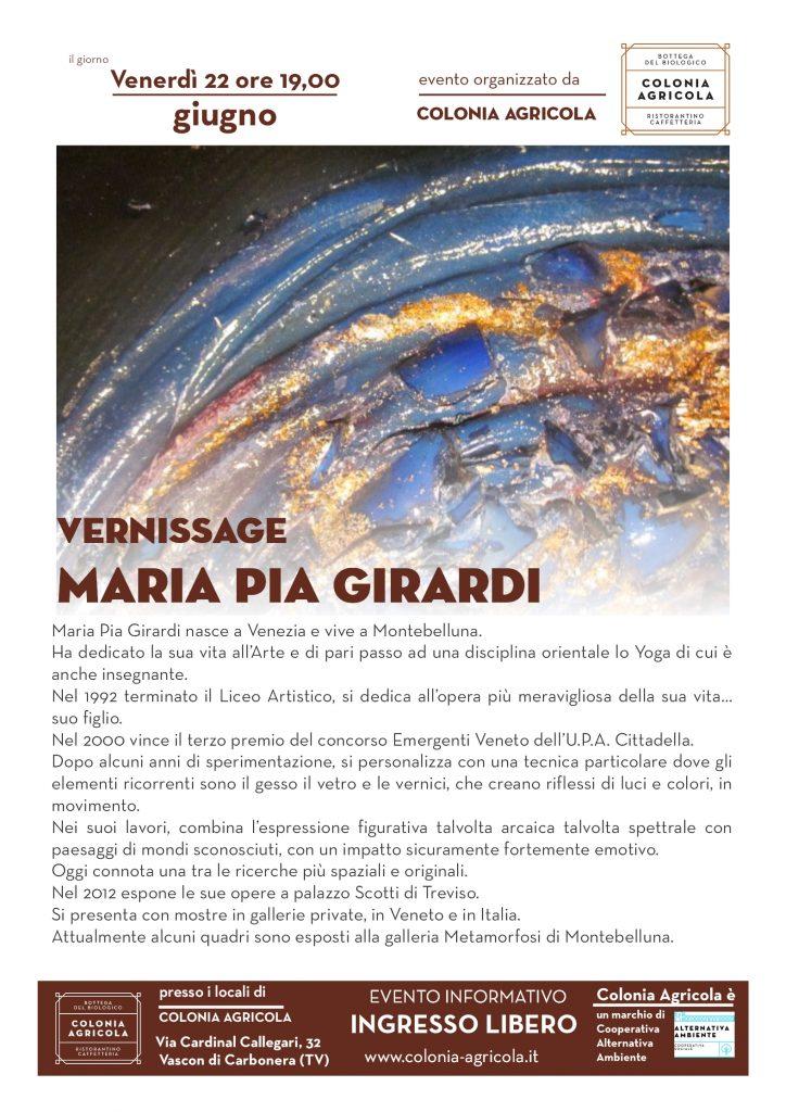 Locandina Vernissage Maria Pia Girardi