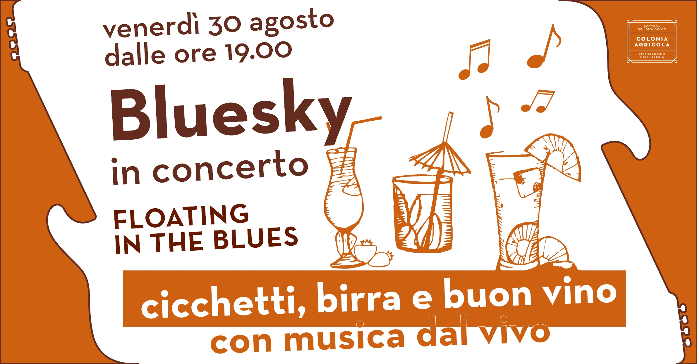Bluesky in concerto copertina