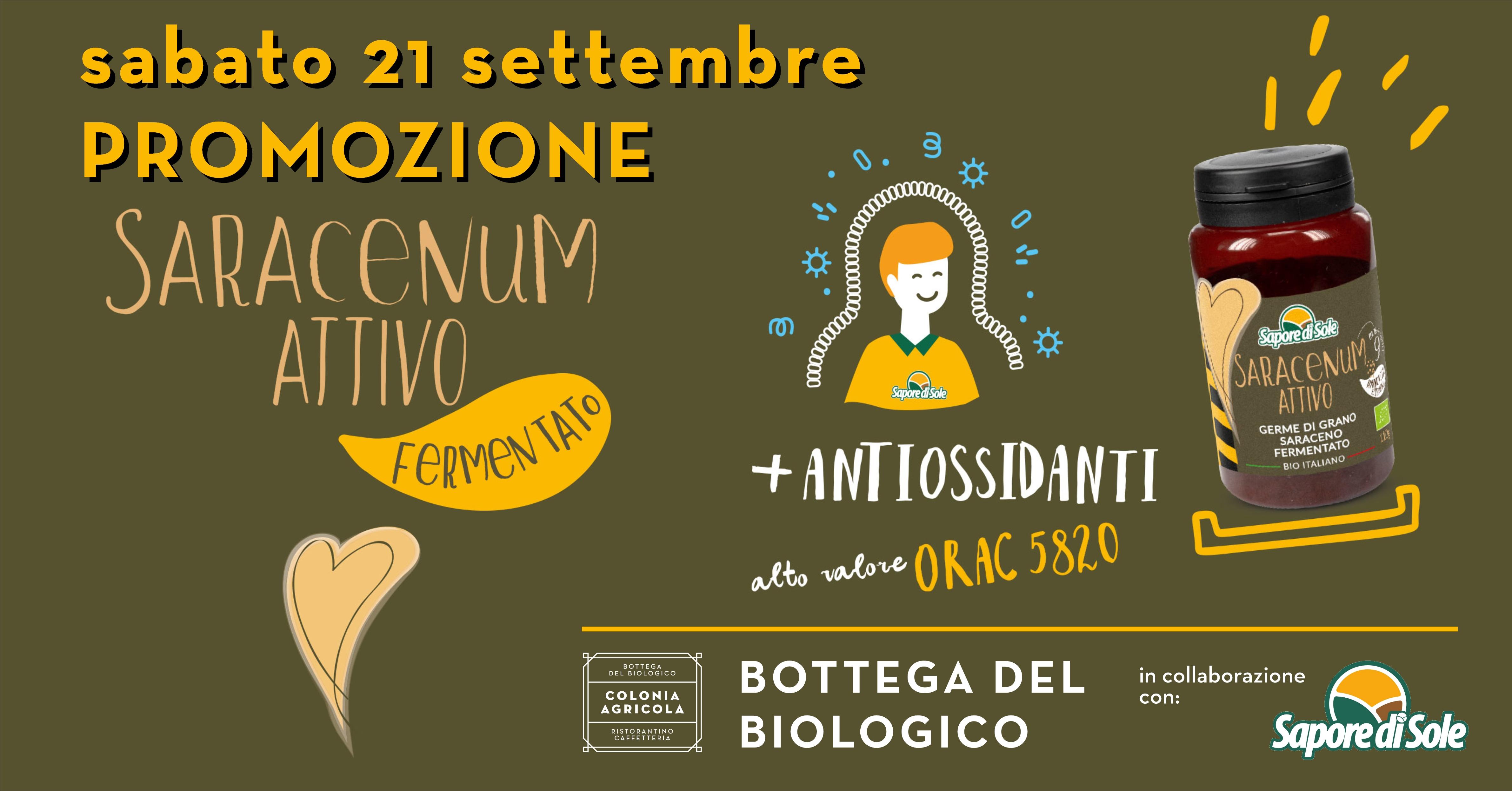 Promozione Saracenum attivo fermentato