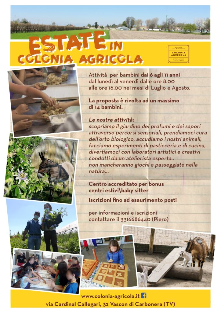 Centri estivi 2020 Colonia Agricola