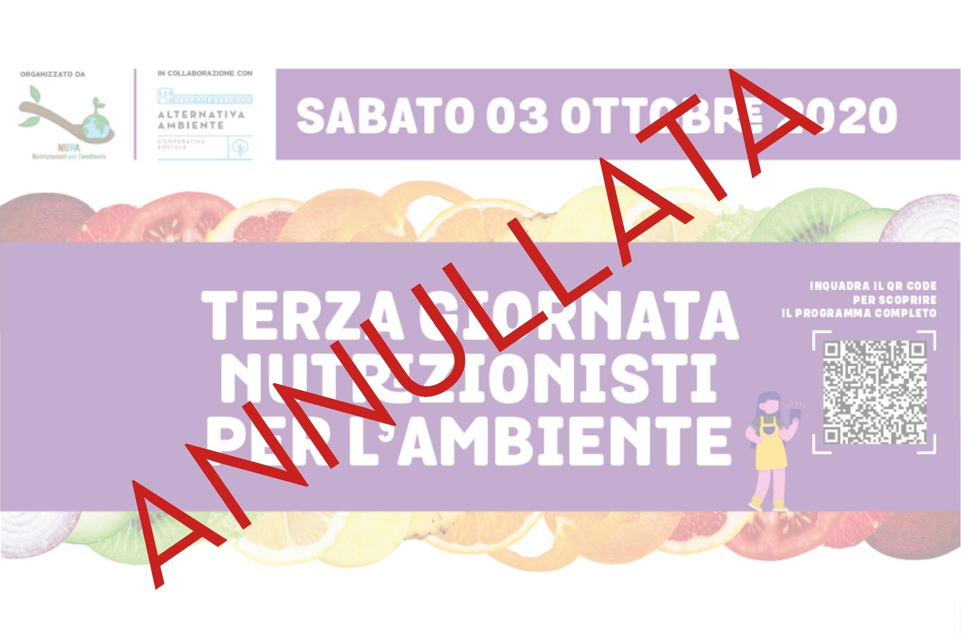 TERZA GIORNATA DEI NUTRIZIONISTI PER L'AMBIENTE